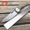 LDT Bear Dark Folding Knives D2 Blade Plating Titanium Steel Handle Flipper Camping Tactical Pocket Knife
