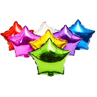 5pcs 18 Inch Foil Balloon 7 Colors Star Shape Balloons Birthday New Year Party Wedding Decoration