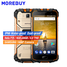 Ulefone Armor 2 4G Waterproof HD Mobile Phone Android 7.0 Helio P25 Octa Core Smartphone 6GB RAM 64G BROM 16MP Fingerprint NFC