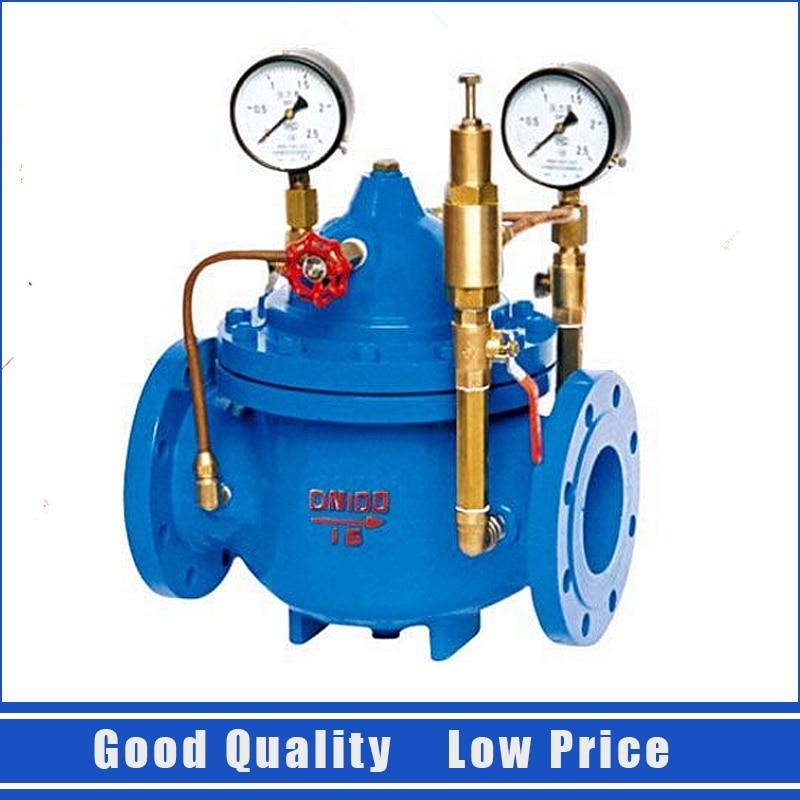 200X DN40 Adjustable Pressure Regulator Valve 1.6mpa Water Control Valve bellofram t77 vacuum regulator 960 500 000 2psi vacuum low pressure valve
