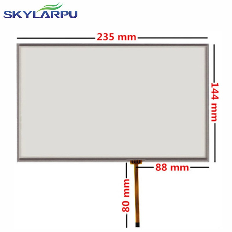skylarpu 10.2 inch 235mm*145mm 4 wire Resistive Touch Screen Panel + Driven plate suite 235*145mm touc screen digitizer panel new 10 1 inch 4 wire resistive touch screen panel for 10inch b101aw03 235 143mm screen touch panel glass free shipping
