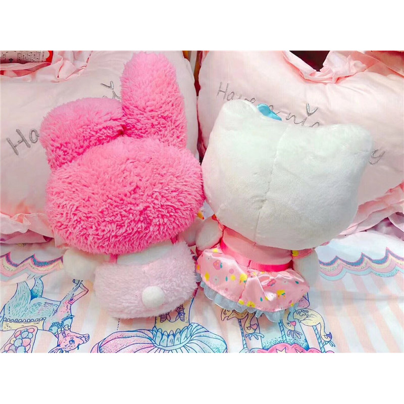 7.8 Inch Kawaii Japanese Pink My Melody Cat Plush Toy Cute Cats Stuffed Animals Doll Baby Kids Toys Xmas Birthday Gift