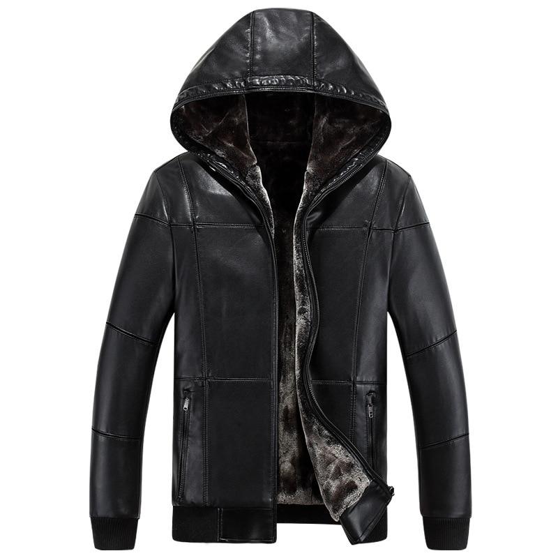 2017 New font b Leather b font font b Jacket b font font b Men b