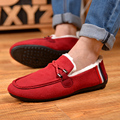 2016 Fur Warm Slip on Snow Flats Winter Shoes Outdoor men Casual Shoes