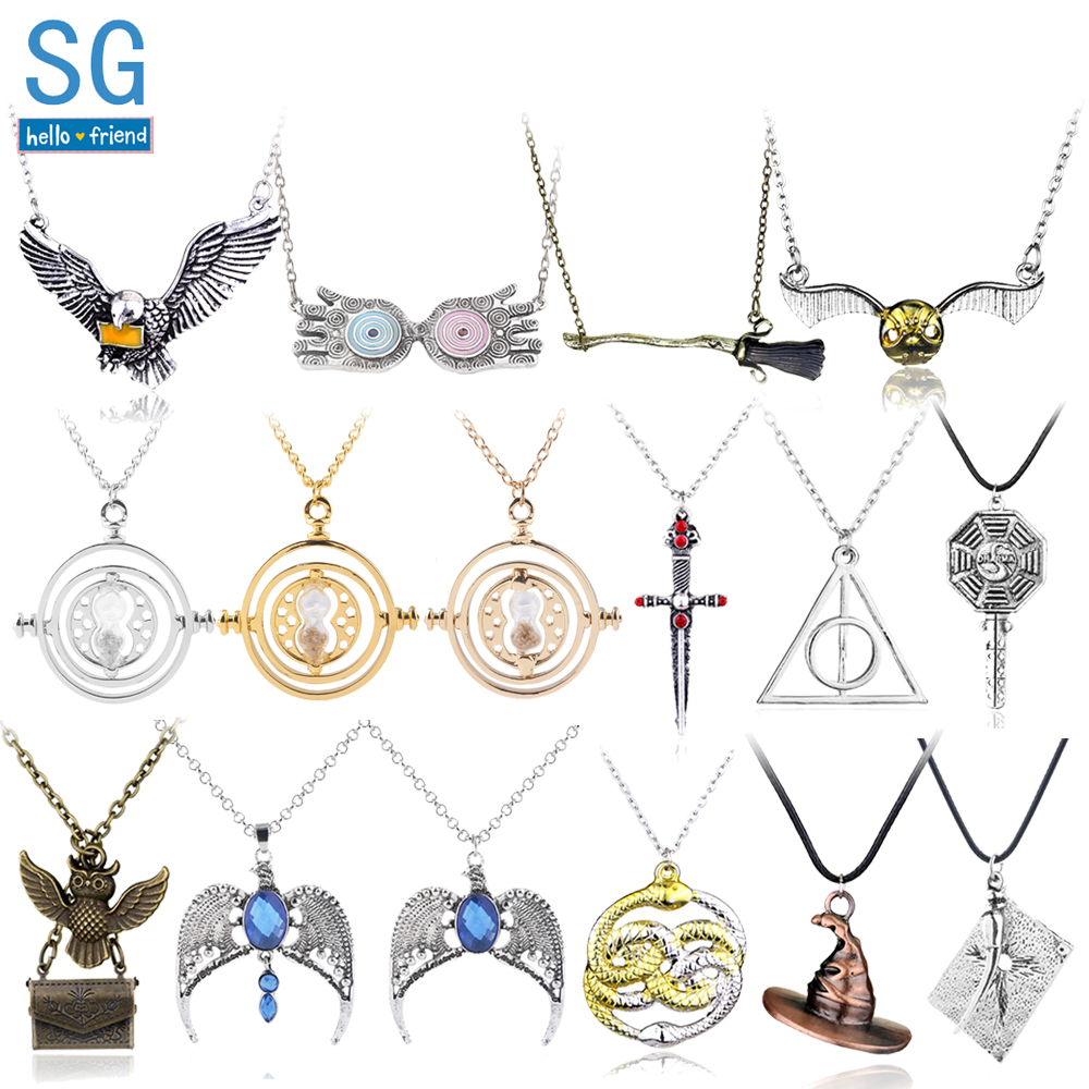 5 or 10 Antique Silver Tibetan 32mm Deathly Hallows Harry Potter Charm Pendant