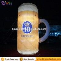 Promoción Inflable Gigante Modelo Jarra de Cerveza, iluminación Inflable Botella de Cerveza, 4 m/13ft Alta Cerveza Modelo de Publicidad Inflable