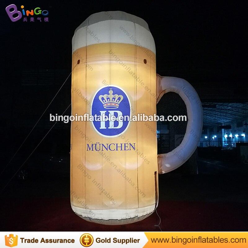 Promotion Giant Inflatable Beer Mug Model, Lighting Inflatable Beer Bottle, 4m/13ft High Advertising Inflatable Beer ModelPromotion Giant Inflatable Beer Mug Model, Lighting Inflatable Beer Bottle, 4m/13ft High Advertising Inflatable Beer Model