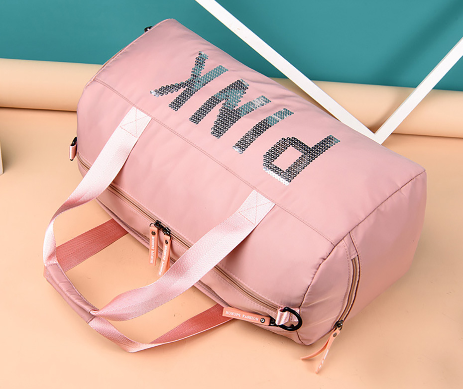 Outdoor Waterproof Nylon Sports Gym Bags Men Women Training Fitness Travel Handbag Yoga Mat Sport Bag with shoes Compartment01003102