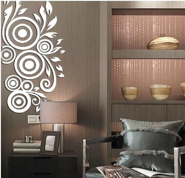 MEYA New Space Art Acrylic Wall Mirror Sticker, 3D Crystal Mirror Wall Sticker For Bedroom Receipt Room Decoration Gift