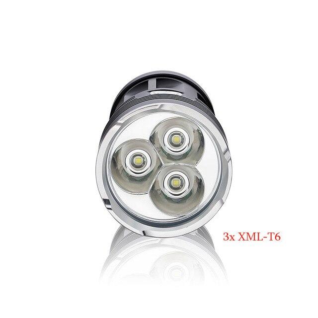 Водонепроницаемый алюминиевый 8000 Люмен 3T6 СВЕТОДИОДНЫЕ лампы 3 х CREE XM-L T6 LED 18650 Фонарик Факел Лампы Свет