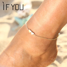 2016 New Chaine Cheville Metal Beach Anklets Chain Cross Ankle For Women Girl Love vintage Barefoot Sandals Foot Leg Jewelry