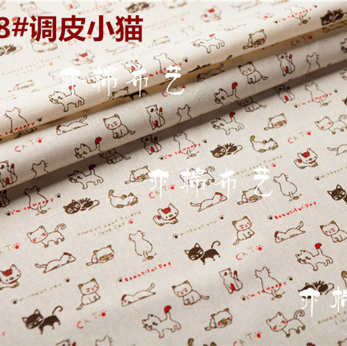 Home & Garden Arts,crafts & Sewing 50x150cm Cat Cotton Fabric Cloth Diy Handmade Sewing Patchwork Home Sofa Curtain Tablecloth Kids Bedding Baby Doll Bag Textile