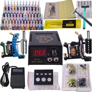 professional body piercing kit complete tattoo kit  2 top tattoo gun cosmetic superior tattoo supply full tattoo machine