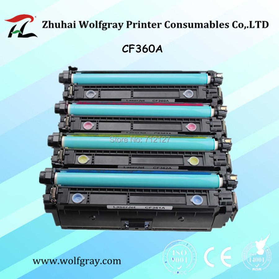 Compatible 508A toner cartridge for HP CF360A CF361A CF362A CF363A Color LaserJet Enterprise M552dn M553dn M553x MFP M577dn need pay more $20 for sticker printing custom