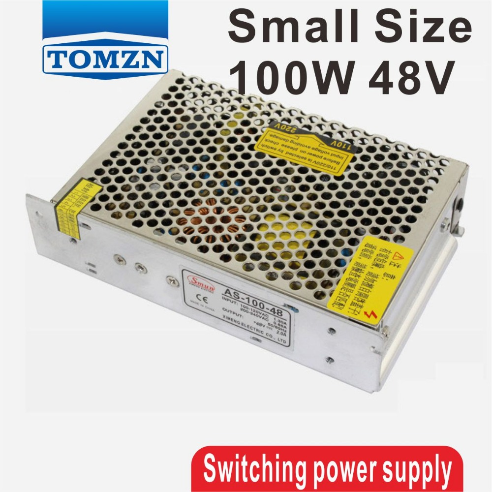 100W 48V Small Volume Single Output Switching power supply for LED Strip light free shipping 10pcs ba8271f