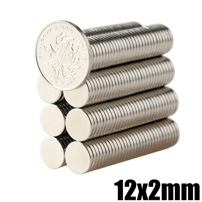 20Pcs 12x2mm N35 Neodymium Magnet Small Round Permanent NdFeB Disc Super Powerful Strong Magnetic Magnets 8 x 8mm cylindrical ndfeb n35 magnet silver 20pcs