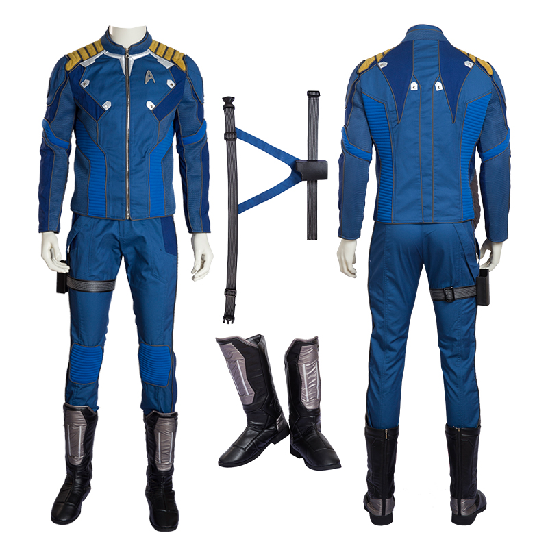 Newest Star Trek Beyond Captain Kirk Cosplay Costume Chekov Kirk Halloween Costumes for Men and Women Adult  can be