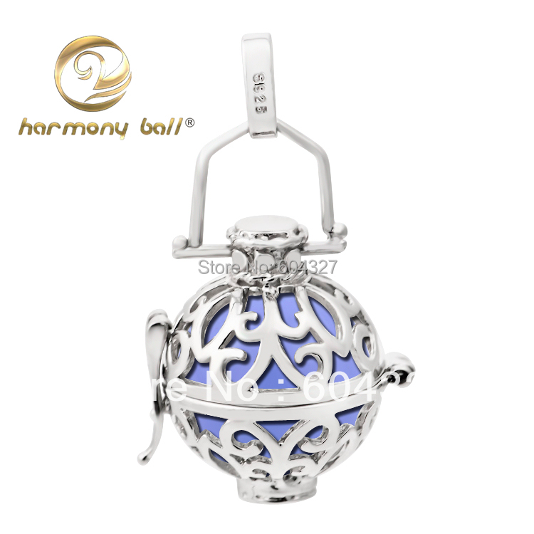 Fashion 925 Sterling Silver Locket Pendant Wholesale 16 14mm Harmony Ball Ringing Chime Pendant For font