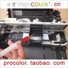 Líquido de limpieza del cabezal de impresión cabezal de la impresora kit de tinta del tinte para epson l100 L210 L110 L200 L300 L355 L1300 L130 L120 L110 L210 CISS impresora