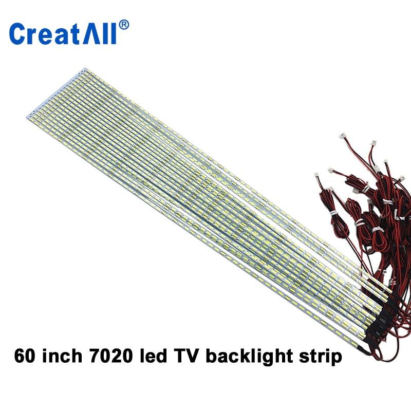 100pcs/lot 60'' Inch 7020 LED Edge Strip Aluminum Plate Strip Backlight Lamps Led TV Backlight Strip 670mm