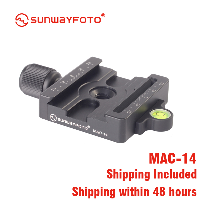 SUNWAYFOTO M AC 14 Quick Release Plate for Arca and Manfrotto Quick Release Clamp Plate Tripod