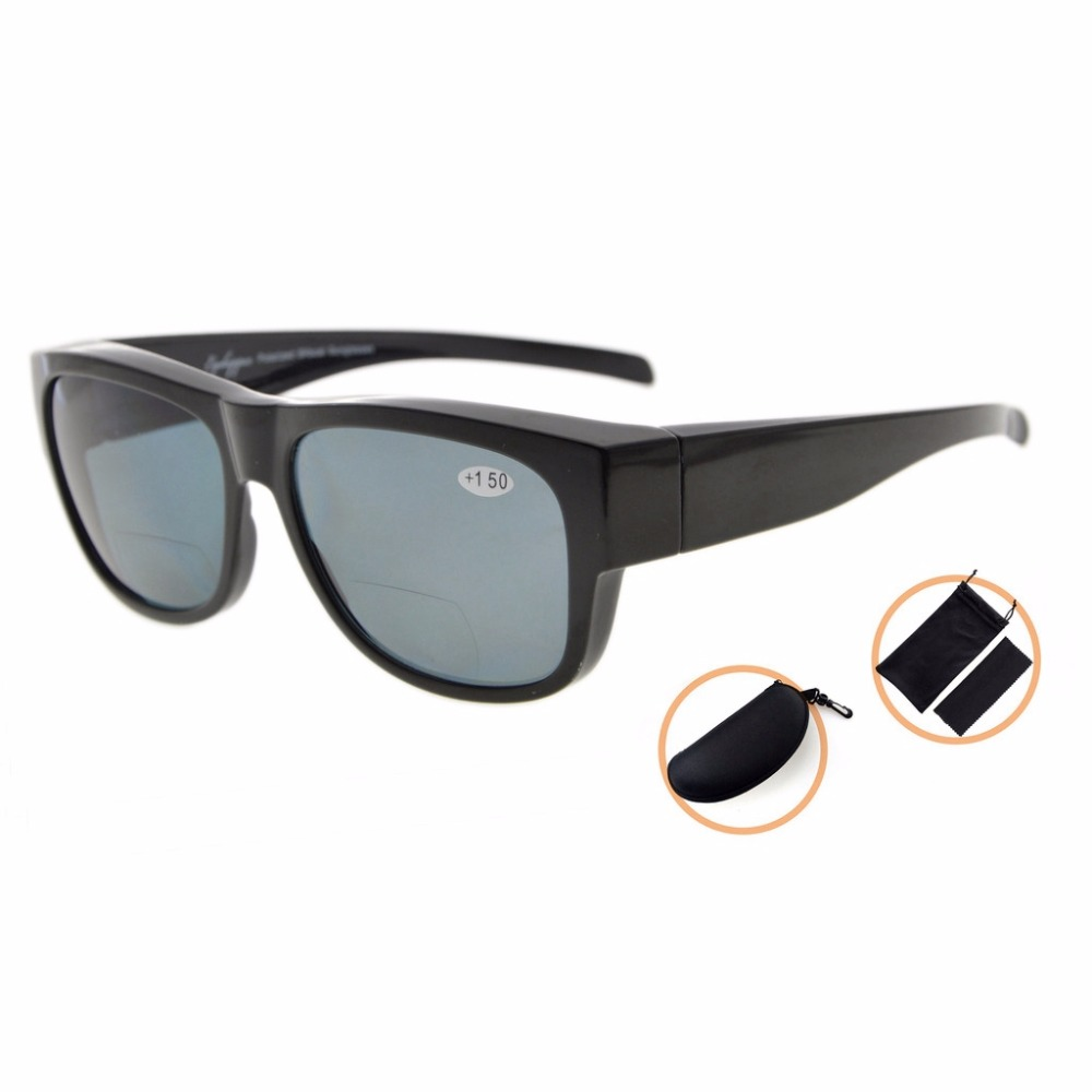 S022PGSG Eyekepper Fitover Polycarbonate Polarized Bifocal Sunglasses Sun Readers to Wear Over Regular Glasses