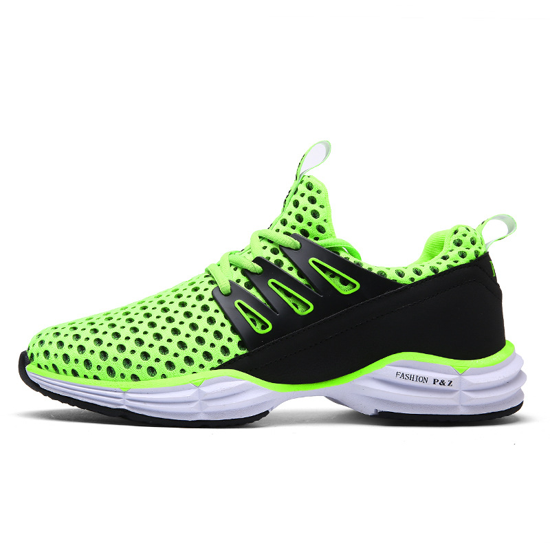 Mesh Air Mesh Breathable Running Shoes Lovers Women Jogging Shoes Green Professional Running Shoes For Men High Quality Sneakers