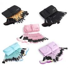 Professional 32Pcs/Set Makeup Brush Foundation Eye Shadows Lipsticks Powder Make Up Brushes Tools Black Bag Pincel Maquiagem Kit