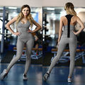 2PCS Womens Outfit Tracksuit Sleeveless Slim Fitness tank tops +long Skinny Pants