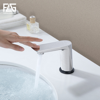 FLG Smart Touch Control Basin Faucets New Design Chrome Touch Sensor Sensitive Bathroom Sensor Touch Tap Mixer