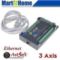 NVEM3 V2 CNC 3 Axs 200 KHZ Ethernet MACH3 carte de contrôle de mouvement pour servomoteur, moteur pas à pas # SM723 @ SD