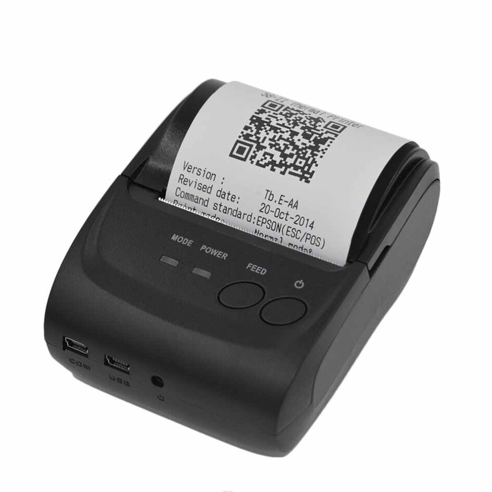 POS-5582 DD Portable Mini Printer 58 Mm Bluetooth 4.0 Android Kasir POS Printer Penerimaan Tiket Printer Thermal