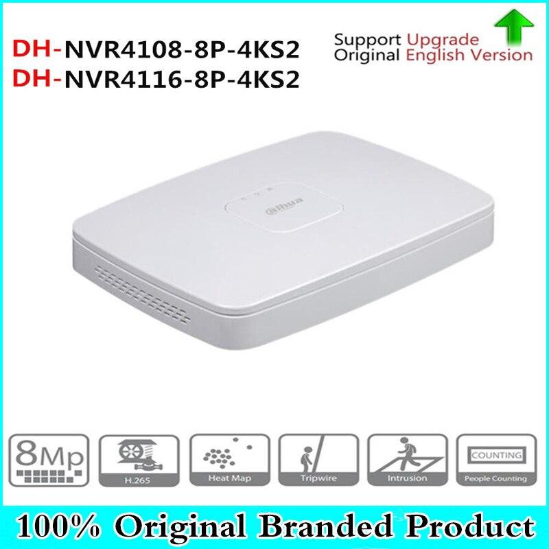 D'origine DH anglais version 8/16 Canal 8PoE Smart 1U Lite NVR4108-8P-4KS2 NVR4116-8P-4KS2 remplacer NVR4108-8P et NVR4116-8P