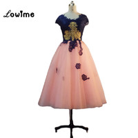 Real Photo Short Cocktail Dresses for Juniors 2016 Scoop Graduation Gown Lace Homencoming Dresses robes de bal Free Shipping