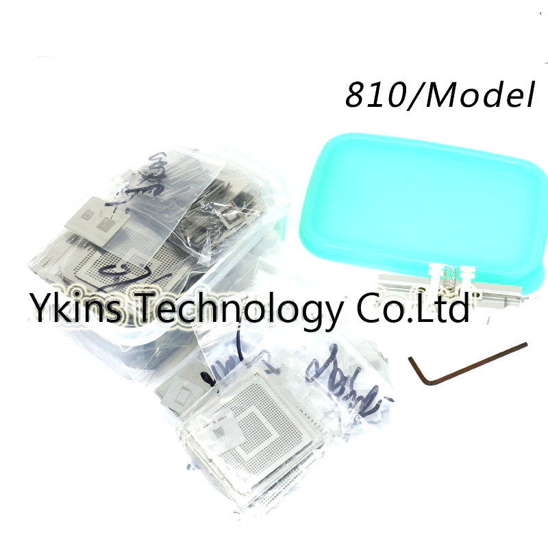 New Upgrade 810/model BGA Stencil Bga Reballing Stencil Kit with direct heating Reballing station Replace 715/pcs i rocks im3 we usb 2 0 wired 3500dpi optical gaming mouse w backlight white