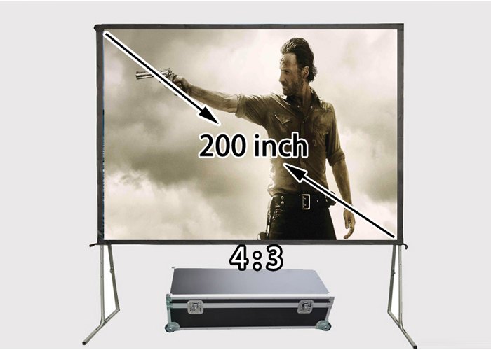 New Arrival 200inch 4 By 3 Aspect Ratio Silver Screen For Active Passive 3D Cinema Projetor Canvas from factory new 12cm nvidia tesla k40c k40m k40 active passive mount bracket