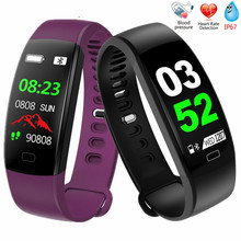 F64 Smart Bracelet Fitness Tracker Wristband Blood Pressure Heart Rate Monitor With Pedometer Bracelet For Android IOS