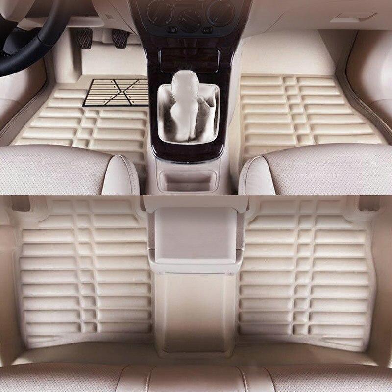 Yuzhe Custom car floor mats for Hyundai solaris ix35 30 ix 25 Elantra MISTRA GrandSantafe accent leather mats cargo mats liners