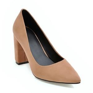 Image 3 - Brand New 6 Colors Elegant Black Women Nude Formal Pumps Gray Vogue High Heels Lady Office Shoes AC356 Plus Big Size 10 33 43