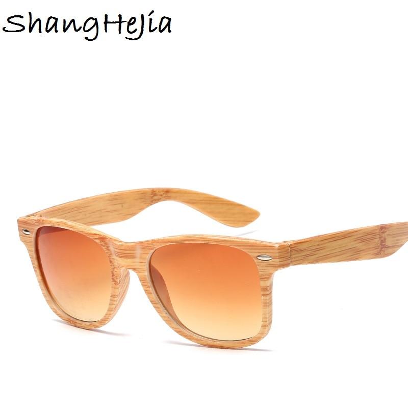 Brand Rivet Women Sunglasses Men Wooden Color Square Sun Glasses Driving Shades Unisex Eyewear