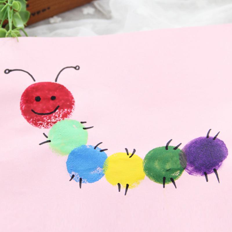 4pcs/lot Yellow Sponge Paint Brushes Seal Sponge Brushes Wooden Handle Painting Tools Graffiti Kids DIY Doodle Drawing Toys