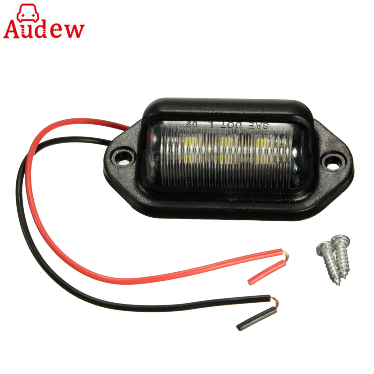 12V 6LEDs Car  License Plate Light Lamp Bulbs for Boats Motorcycle Automotive Aircraft RV Truck Trailer  White 6 leds fence lamp