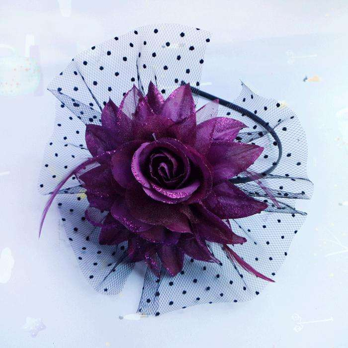 dame haarspeld diner diner hoofdtooi haar sieraden haarband bloem