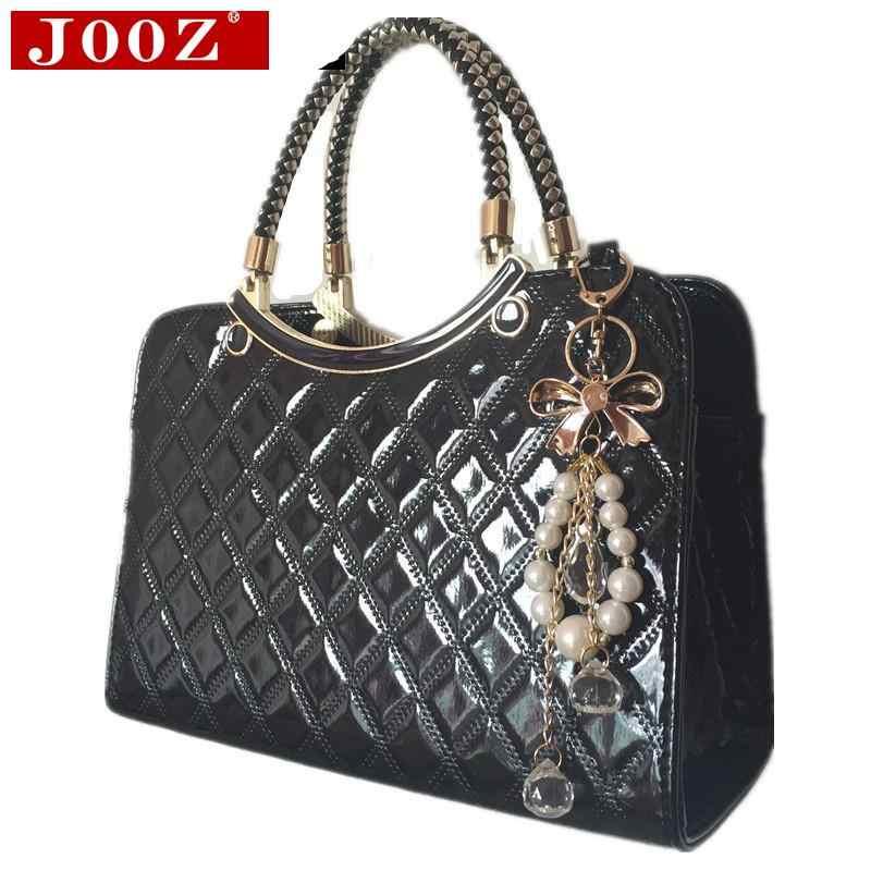 7e416aa6fe71 ... Модные женские сумки известного бренда дизайн Роскошные Лакированная  кожа сумка мешок основной bolsos Женщины Сумка ...