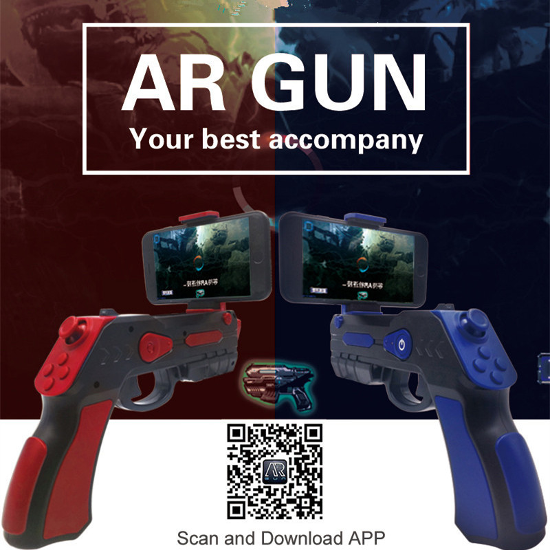 VR Game ARGUN Shooting Game Smartphones Bluetooth Control Toy AR Gun for IOS Android outdoor fun sports airsoft air guns