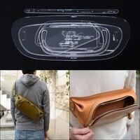 1 компл. ручной работы сумка поясная шаблон прозрачный акриловый кожаный узор DIY хобби Вышивание шаблон трафареты 38*17,5*5 см