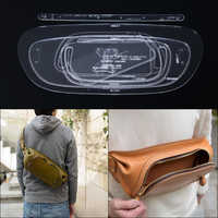 1set Handmade Shoulder Bag Waist Pack Template Clear Acrylic Leather Pattern DIY Hobby Sewing pattern stencils 38*17.5*5cm
