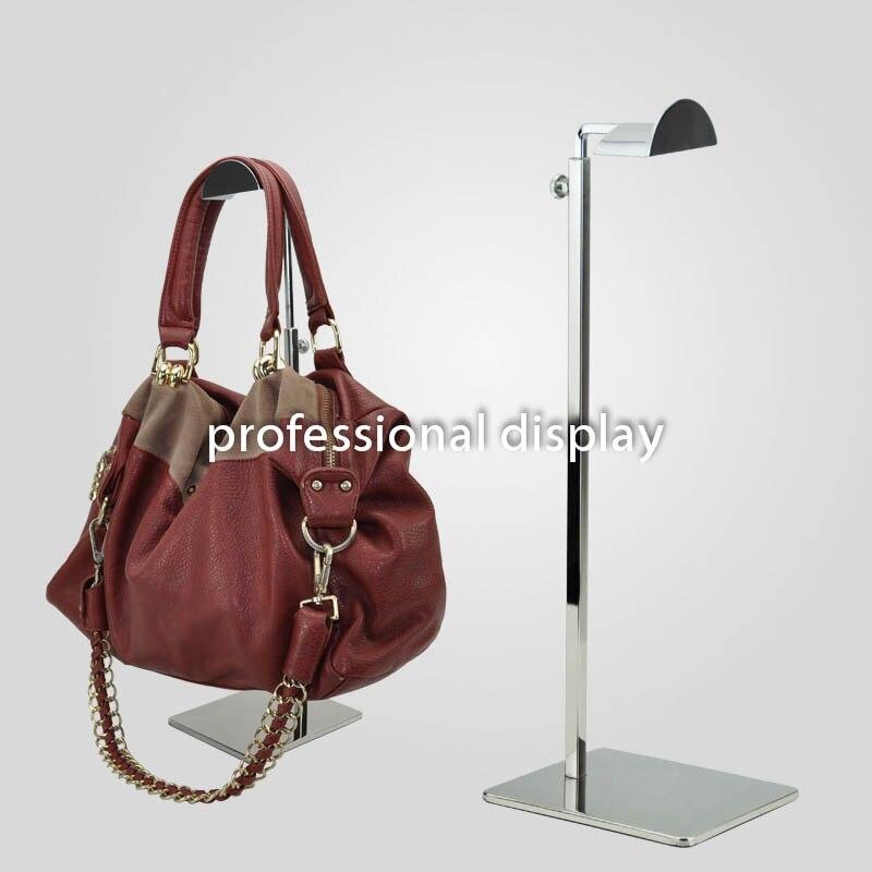 Free Shipping Adjustable Metal Bags Handbag Display Rack Stand Women