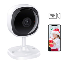 1080P FHD WiFi Wireless IP Camera, 180 Degree Panoramic Home Security Surveillance Cam Baby Monitor Two Way Audio, Night Vision free shipping baby monitor indoor 180 degree full view wireless camera p2p cloud tf card two way audio snowman v380 app