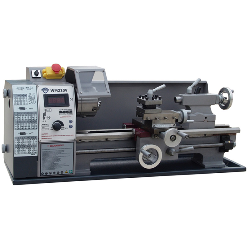 Mini Lathe Machine WM210V Small Household Lathe with 600W Motor home buddha machine wm210v small ball machine mini machine tool teaching lathe woodworking wm180v 0618